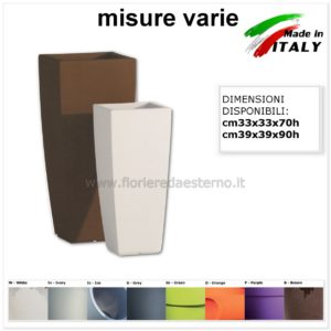 VASI IN PLASTICA STILO SQUARE 83418574 ECO SOSTENIBILE